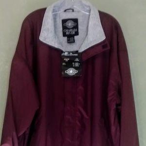 Burgundy Charles River jacket